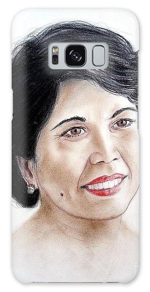 Attractive Filipina Woman With A Facial Mole Galaxy Case by Jim Fitzpatrick