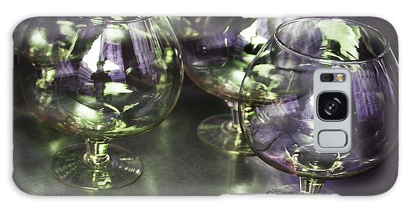 Aubergine Paris Wine Glasses Galaxy Case