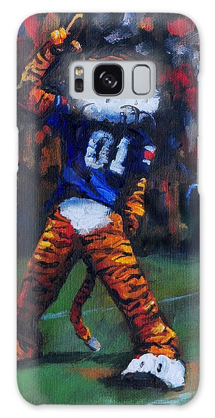 Aubie Doing His Thing Galaxy Case by Carole Foret