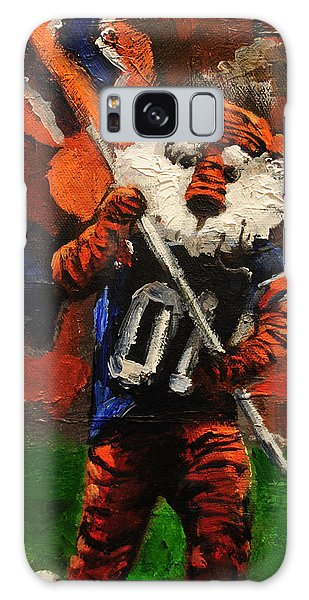Aubie Running Flags Galaxy Case by Carole Foret