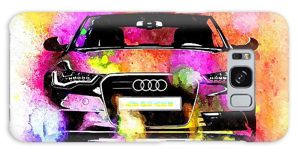 Audi A6 Avant Watercolor Galaxy Case by Daniel Janda