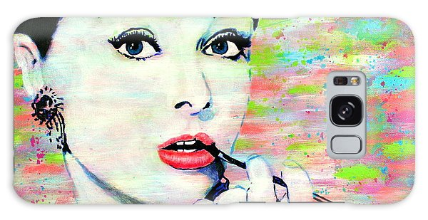 Audrey Hepburn Art Breakfast At Tiffany's Galaxy Case
