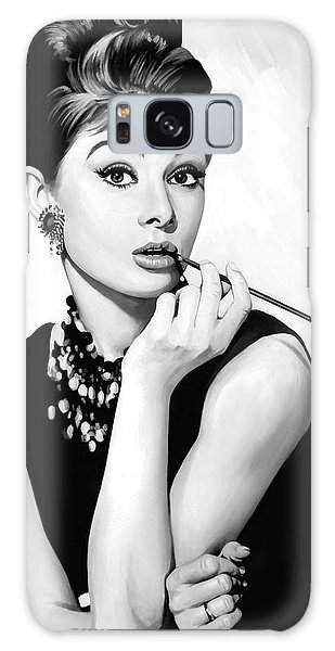 Audrey Hepburn Artwork Galaxy Case