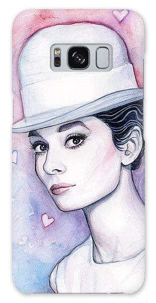Audrey Hepburn Fashion Watercolor Galaxy Case