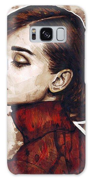 Mixed-media Galaxy Case - Audrey Hepburn by Olga Shvartsur