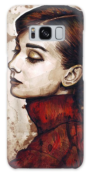 Actors Galaxy S8 Case - Audrey Hepburn by Olga Shvartsur
