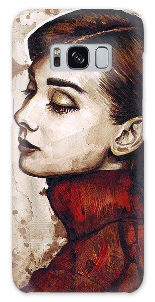 Watercolor Galaxy Case - Audrey Hepburn by Olga Shvartsur