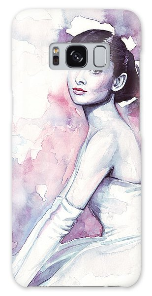 Actors Galaxy S8 Case - Audrey Hepburn Portrait by Olga Shvartsur