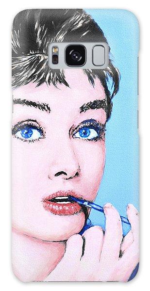 Audrey Hepburn Galaxy Case by Victor Minca