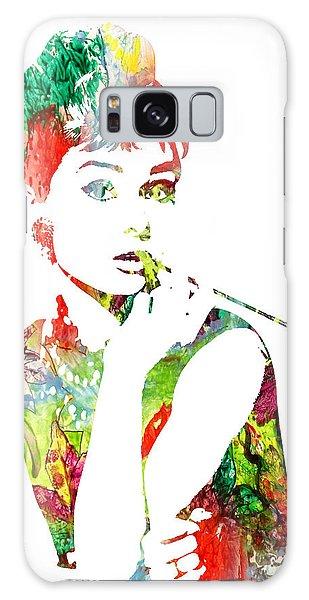 Audrey Hepburn - Watercolor Galaxy Case