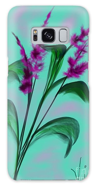 August Bouquet Galaxy Case by Judy Via-Wolff