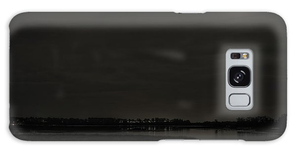 August Full Moon Over Lake Wausau Galaxy Case
