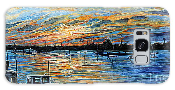 August Sunset In Woods Hole Galaxy Case by Rita Brown