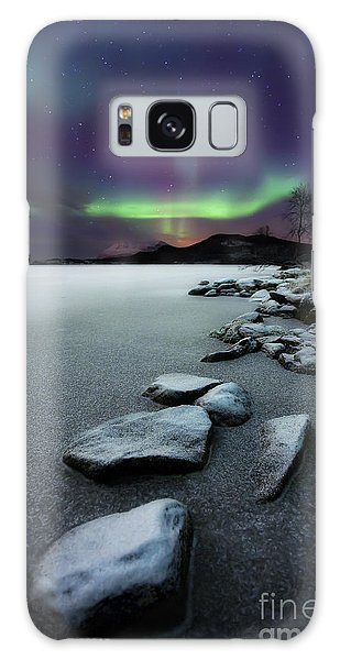 Aurora Borealis Over Sandvannet Lake Galaxy Case