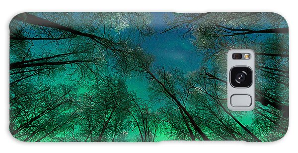 Aurora Glow Through The Birches Galaxy Case