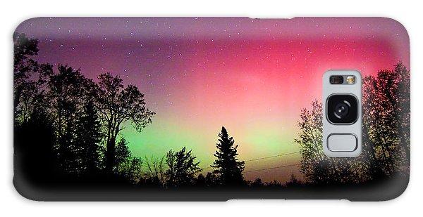 Aurora In Autumn Galaxy Case by Barbara West