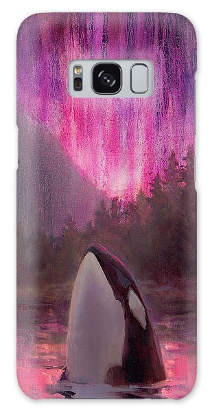 Orca Whale And Aurora Borealis - Killer Whale - Northern Lights - Seascape - Coastal Art Galaxy Case