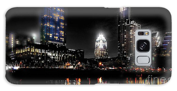 Austin Night Skyline Reflections  Galaxy Case by Gary Gibich