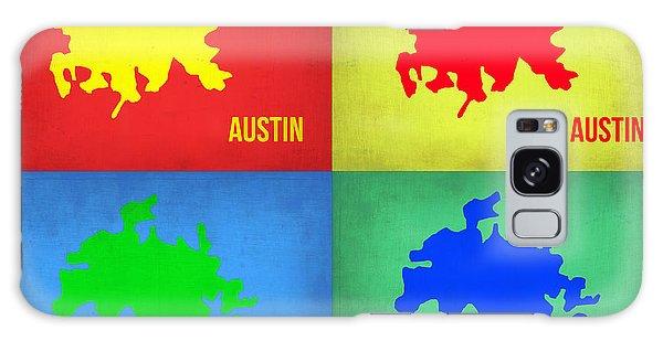 Austin Galaxy S8 Case - Austin Pop Art Map 1 by Naxart Studio
