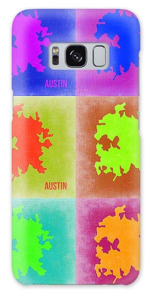 Austin Galaxy S8 Case - Austin Pop Art Map 4 by Naxart Studio
