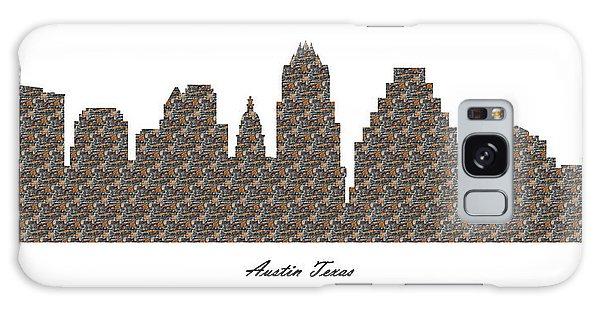 Austin Texas 3d Stone Wall Skyline Galaxy Case
