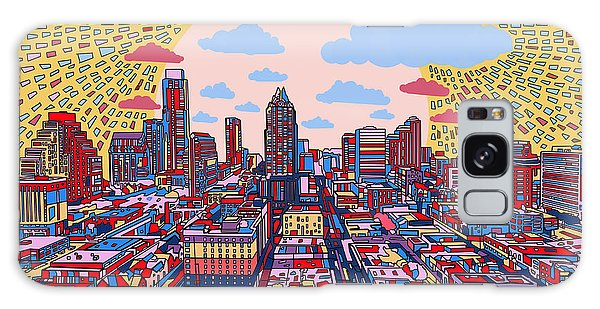 Austin Texas Abstract Panorama 2 Galaxy Case