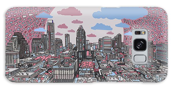 Austin Texas Abstract Panorama 3 Galaxy Case