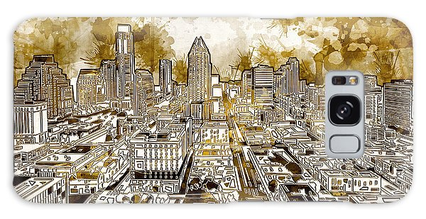Austin Texas Abstract Panorama 6 Galaxy Case