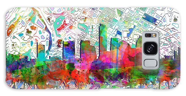 Austin Texas Abstract Panorama 7 Galaxy Case