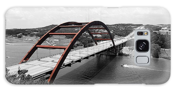 Austin Texas Pennybacker 360 Bridge Color Splash Black And White Galaxy Case by Shawn O'Brien