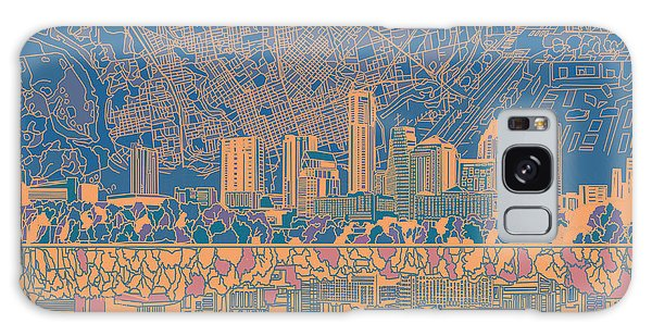 Austin Texas Skyline 2 Galaxy Case