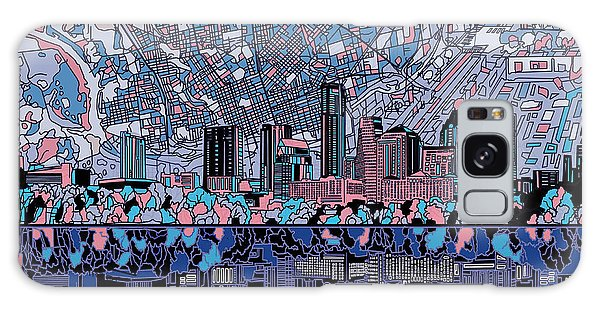 Austin Texas Skyline 3 Galaxy Case