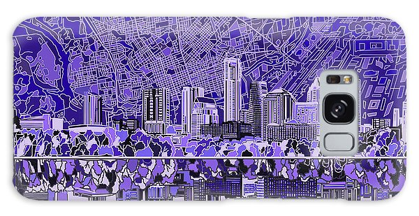 Austin Texas Skyline 4 Galaxy Case