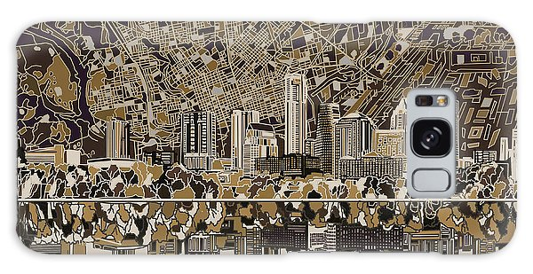 Austin Texas Skyline 5 Galaxy Case