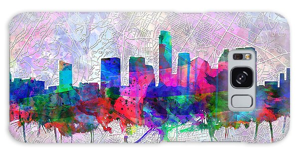 Austin Texas Skyline Watercolor 2 Galaxy Case