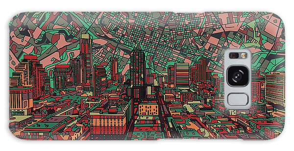 Austin Texas Vintage Panorama 3 Galaxy Case