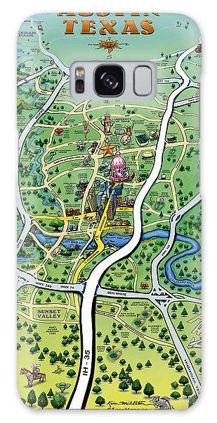 Austin Tx Cartoon Map Galaxy Case