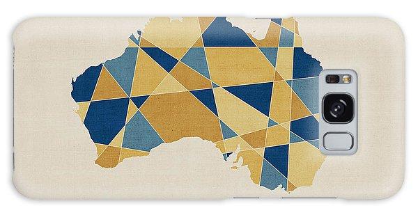 Victoria Galaxy Case - Australia Geometric Retro Map by Michael Tompsett