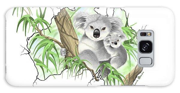 Koala Galaxy Case - Australia by Veronica Minozzi