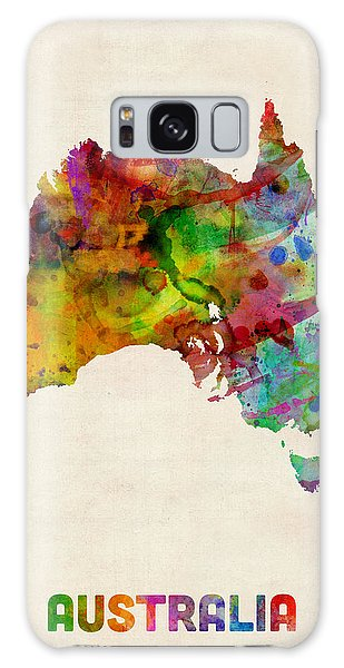 Australia Watercolor Map Galaxy Case