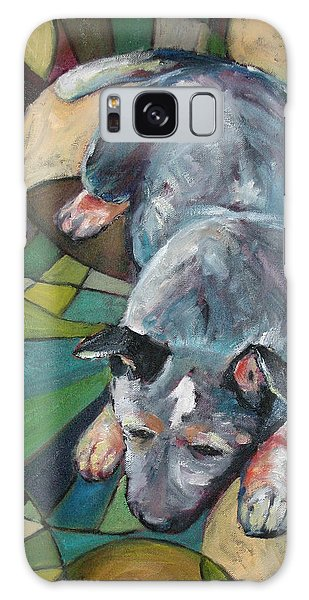 Australian Cattle Dog Nap Time Galaxy Case