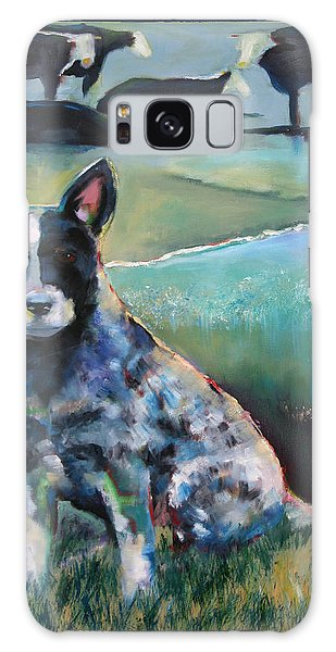 Australian Cattle Dog With Coat Of Many Colors Galaxy Case