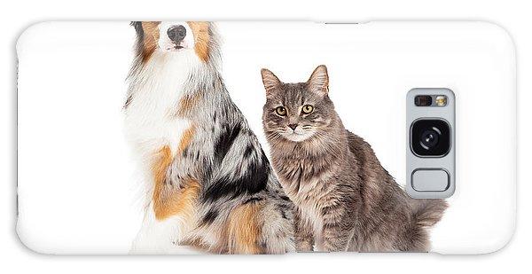 Australian Shepherd Dog And Tabby Cat Galaxy Case