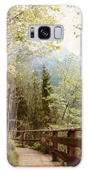 Austrian Woodland Trail And Mountain View Galaxy Case