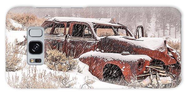 Auto In Snowstorm Galaxy Case by Sue Smith