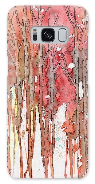 Autumn Abstract No.1 Galaxy Case by Rebecca Davis