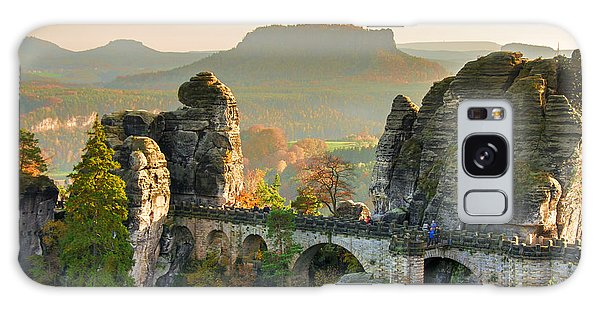 Autumn Afternoon On The Bastei Bridge Galaxy Case