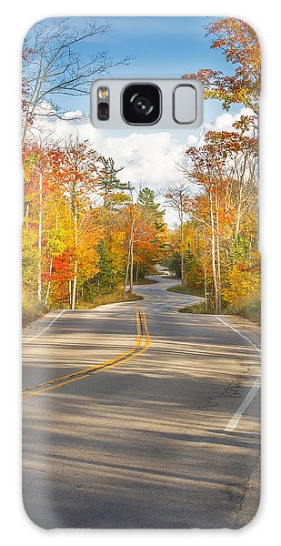 Autumn Afternoon On The Winding Road Galaxy Case