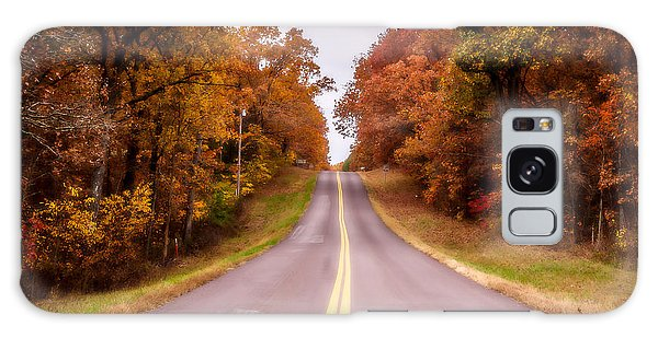 Autumn Along The Rural Road Galaxy Case