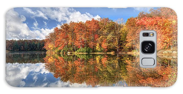 Autumn At Boley Lake Galaxy Case by Jaki Miller
